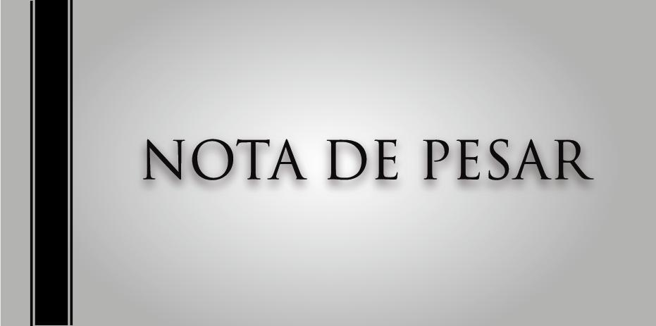 NOTA DE PESAR PELO FALECIMENTO DO EX VEREADORJOSÉ SIDINEI FERRIERA DA SILVA