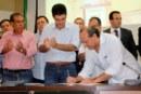 OBRAS: ASSINADA A ORDEM DE SERVIÇO DO MURO DE CONTENÇÃO DE UMA NOVA ETAPA DA ORLA DE MARABÁ