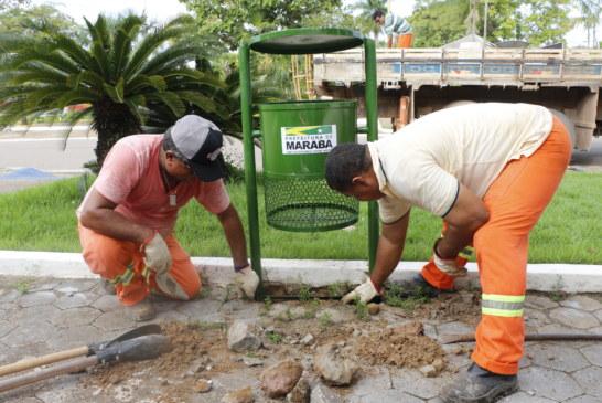 Limpeza: Postura e Serviço Ambiental iniciam segunda etapa da implantação de mais 100 lixeiras na cidade