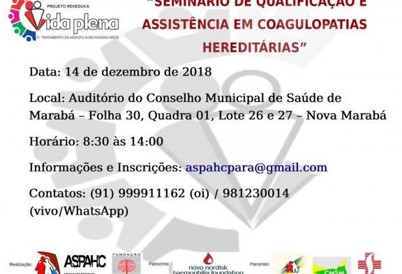 Saúde: Inscrições abertas para Seminário de Qualificação em Coagulopatias Hereditárias