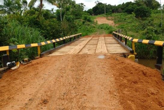 Sevop: Construção de ponte sobre o rio Água Fria atende famílias da zona rural